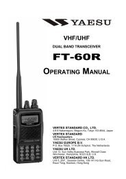 FT-60R Operating Manual - Yaesu UK Ltd