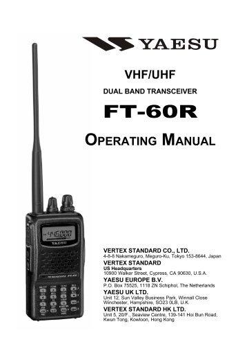 Yaesu FT-60 Cheat Sheet Store a Frequency in a Memory