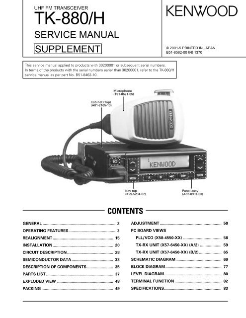 TK-880/H (UHF) mobile service manual - The Repeater ... on