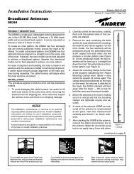 DB's installation instruction sheet on the DB-264