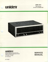 Uniden ARH-351 manual - The Repeater Builder's Technical ...