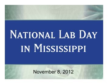 Presentation - Research at The University of Mississippi