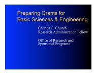 Grant Writing for UM Graduate Students in Basic Sciences and ...