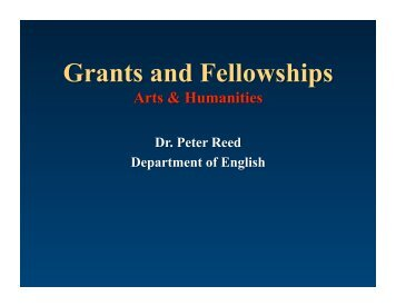 Grant Writing for UM Graduate Students in Arts and Humanities