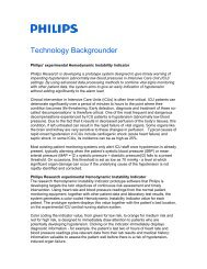 experimental Hemodynamic Instability Indicator - Philips Research