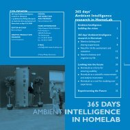 365 DAYS AMBIENT INTELLIGENCE IN HOMELAB - Philips Research