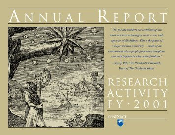 FY 2001 Annual Report - Vice President for Research