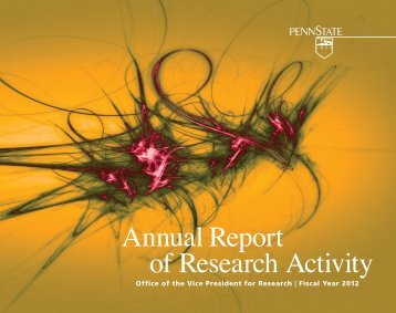 FY 2012 Annual Report - Vice President for Research