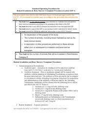 Standard Operating Procedures for Rodent Irradiation & Bone ...