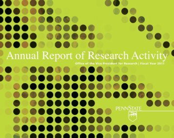 Annual Report of Research Activity - Vice President for Research