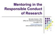 Mentoring in the Responsible Conduct of Research