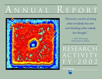 FY 2002 Annual Report - Vice President for Research