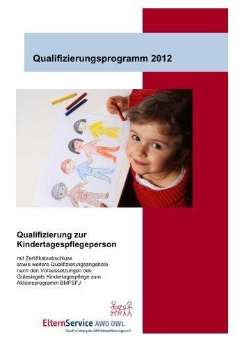 Qualifizierungsprogramm 2012 ElternService AWO OWL (383,99 KB