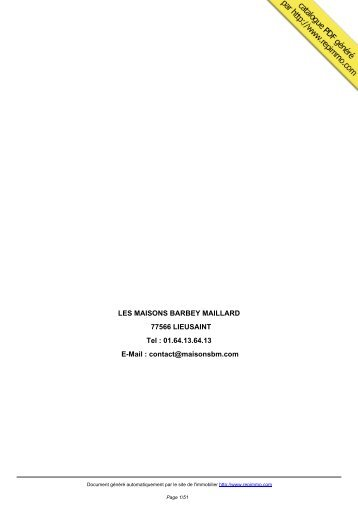 catalogue immobilier LES MAISONS BARBEY ... - Repimmo