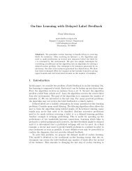 On-line Learning with Delayed Label Feedback - CiteSeerX