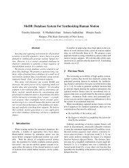 MoDB: Database System For Synthesizing Human Motion