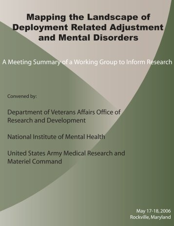 Mapping the Landscape of Deployment Related Adjustment and ...