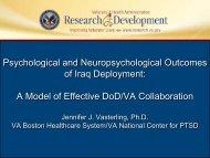 PTSD - VHA Office of Research & Development