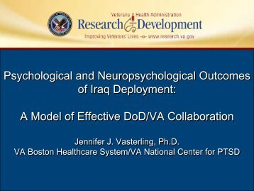 PTSD - VHA Office of Research & Development