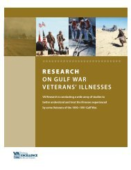 Research on Gulf War Veterans' Illnesses