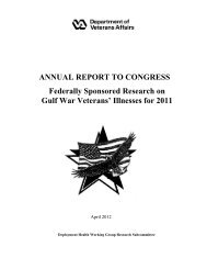 Gulf War Report to Congress - VHA Office of Research & Development