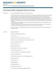21st Century Skills. Learning for Life in Our Times - Research and ...