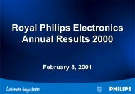 Royal Philips Electronics Annual Results 2000