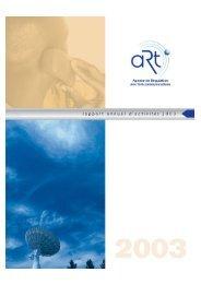 ART- Rapport activit.. 2003 hai - Research ICT Africa