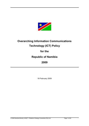 NMICT - Overarching ICT Policy