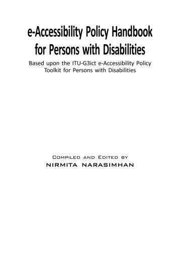 e-Accessibility Policy Handbook for Persons with Disabilities