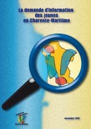 La demande d information des jeunes en Charente-Maritime