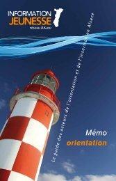 Memo Orientation - Réseau Information Jeunesse d'Alsace