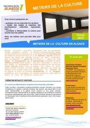 METIERS DE LA CULTURE - Réseau Information Jeunesse d'Alsace