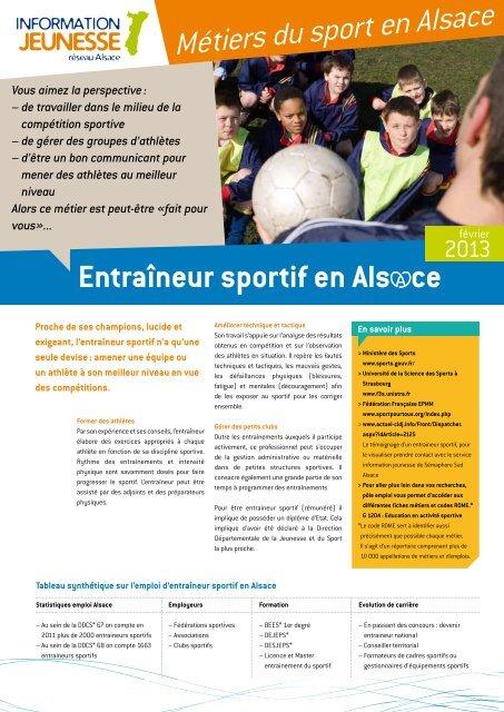 L'entraîneur sportif - Réseau Information Jeunesse d'Alsace