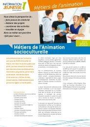 Métiers de l'animation - Réseau Information Jeunesse d'Alsace