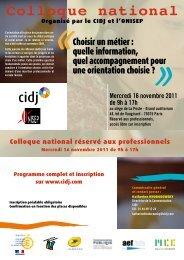 Télécharger le programme du colloque - Réseau Information ...