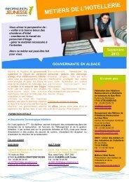 METIERS DE L'HOTELLERIE - Réseau Information Jeunesse d'Alsace