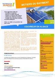 Couvreur en Alsace - Réseau Information Jeunesse d'Alsace