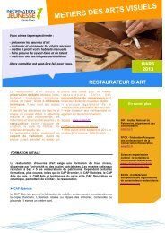 METIERS DES ARTS VISUELS - Réseau Information Jeunesse d ...