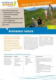 Animateur nature - Réseau Information Jeunesse d'Alsace