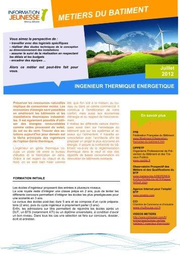 Ingenieur thermique energetique - Réseau Information Jeunesse d ...