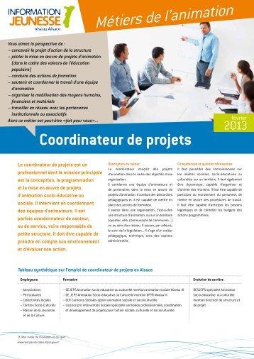 Le coordinateur de projets - Réseau Information Jeunesse d'Alsace