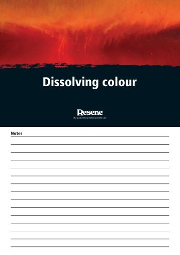 Dissolving colour - Resene