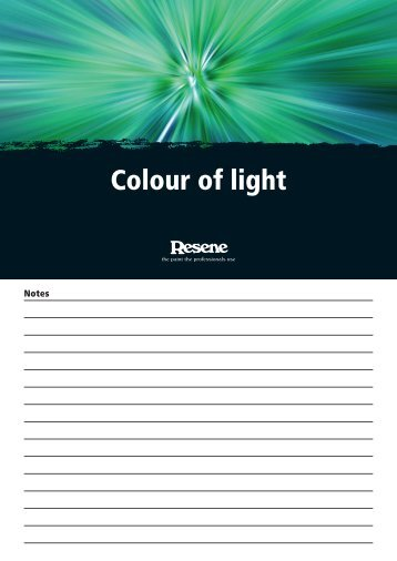 Colour of light - Resene