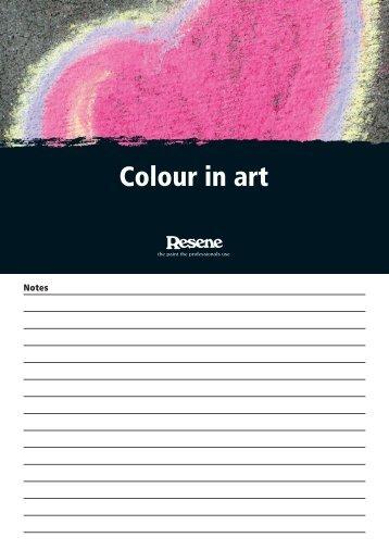 Colour in art - Resene