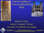 Lateral Loading of Cast-in-drilled-hole Shaft - MCEER