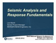 Seismic Analysis and Response Fundamentals - MCEER