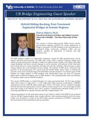 UB Bridge Engineering Guest Speaker - MCEER - University at Buffalo