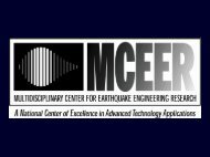 Seismic Isolation for Small Reinforced Concrete Structures - MCEER