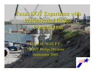 Texas DOT Experience with Prefabricated Bridge ... - MCEER